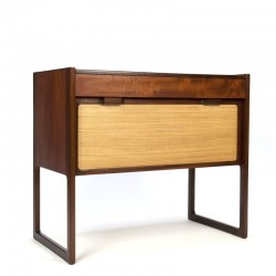 Danish vintage model small cabinet with teak and jute