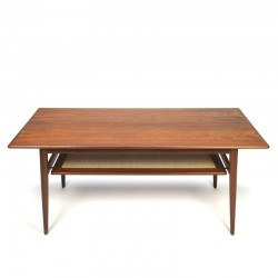 Vintage Danish teak coffee table with magazine space