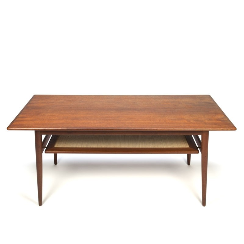 Vintage Teak Coffee Tables: Vintage Danish Teak Coffee Table With Magazine Space