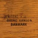 Vintage Henning Kjaernulf set dining chairs model 255