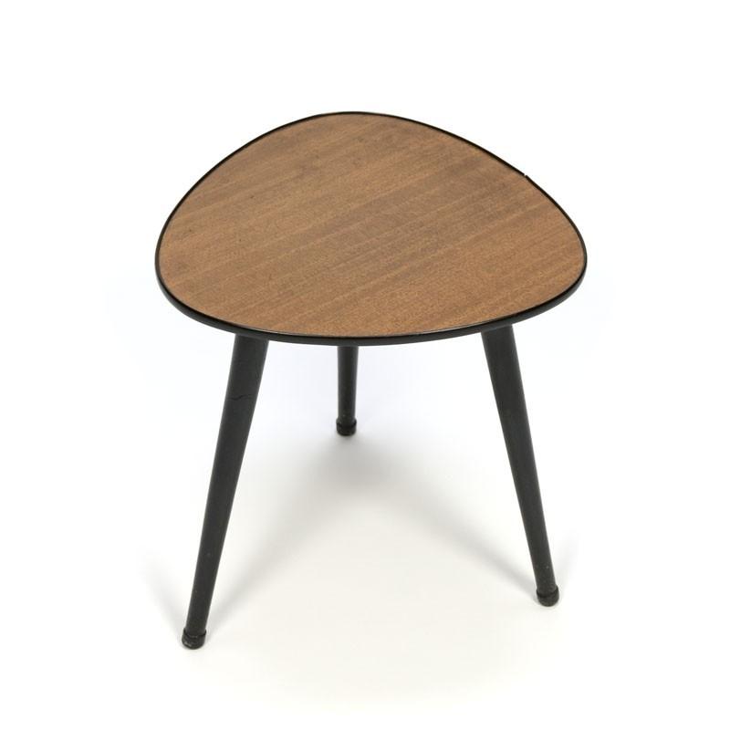 Kleine vintage plantentafel of bijzettafel uit de jaren vijftig