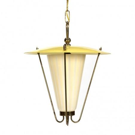 Vintage fifties hanging lamp yellow