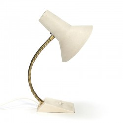 Vintage desk lamp cream coated metal