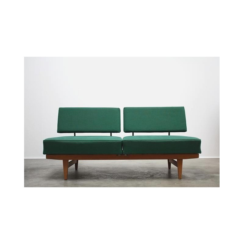 Green sleeping bench from the 1950's