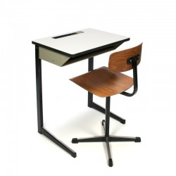 Industrial vintage school desk and chair by Marko