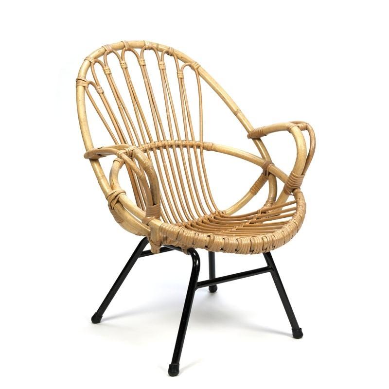 Vintage rattan chair for children
