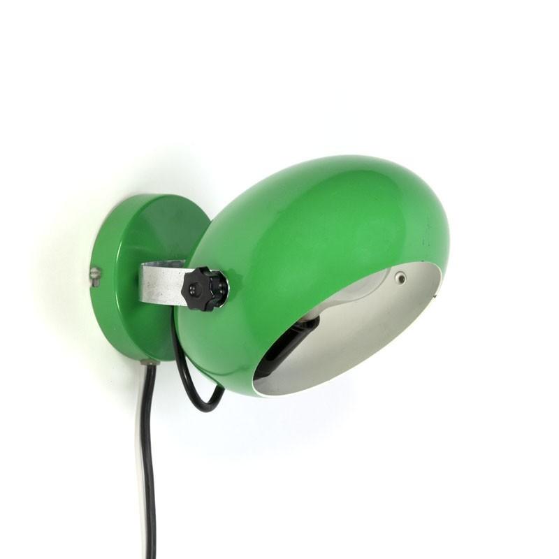 Vintage jaren zeventig wandlamp groen
