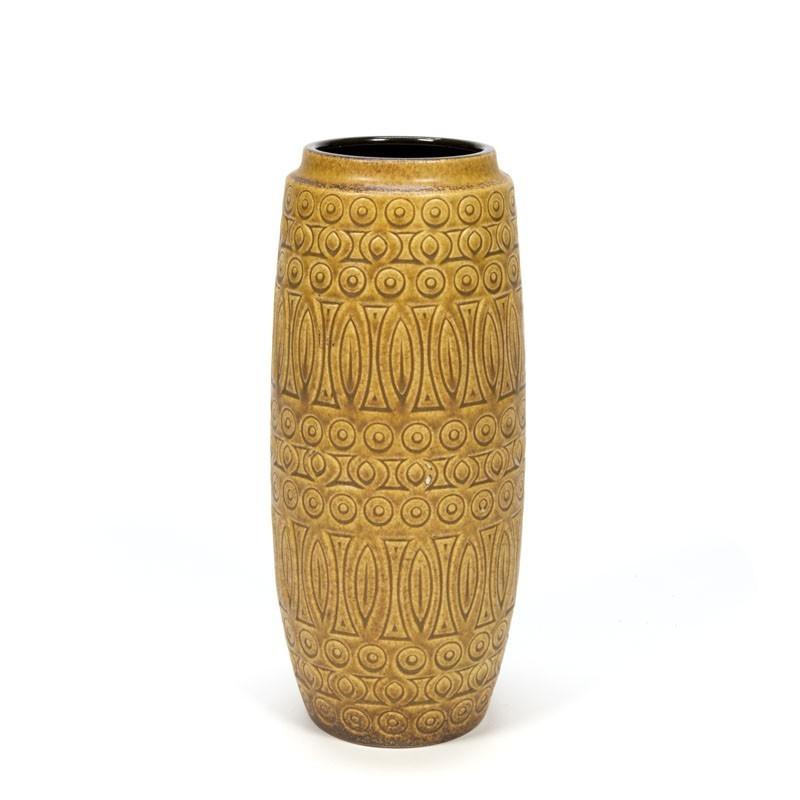 Ocher colored Vintage vase