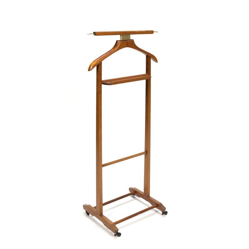 Vintage Italian wooden valet stand designed by Ico Parisi