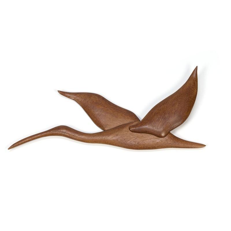 Vintage teak wall decoration Bird