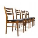 Vintage teakhouten Farstrup stoelen set van 4