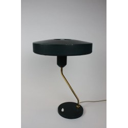 Vintage Philips table lamp green