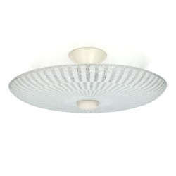 Glazen vintage plafondlamp 1950's
