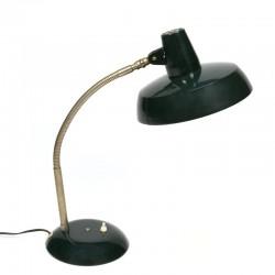 Vintage donker groene bureaulamp