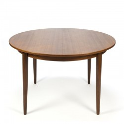 Vintage Danish round extendable dining table in teak