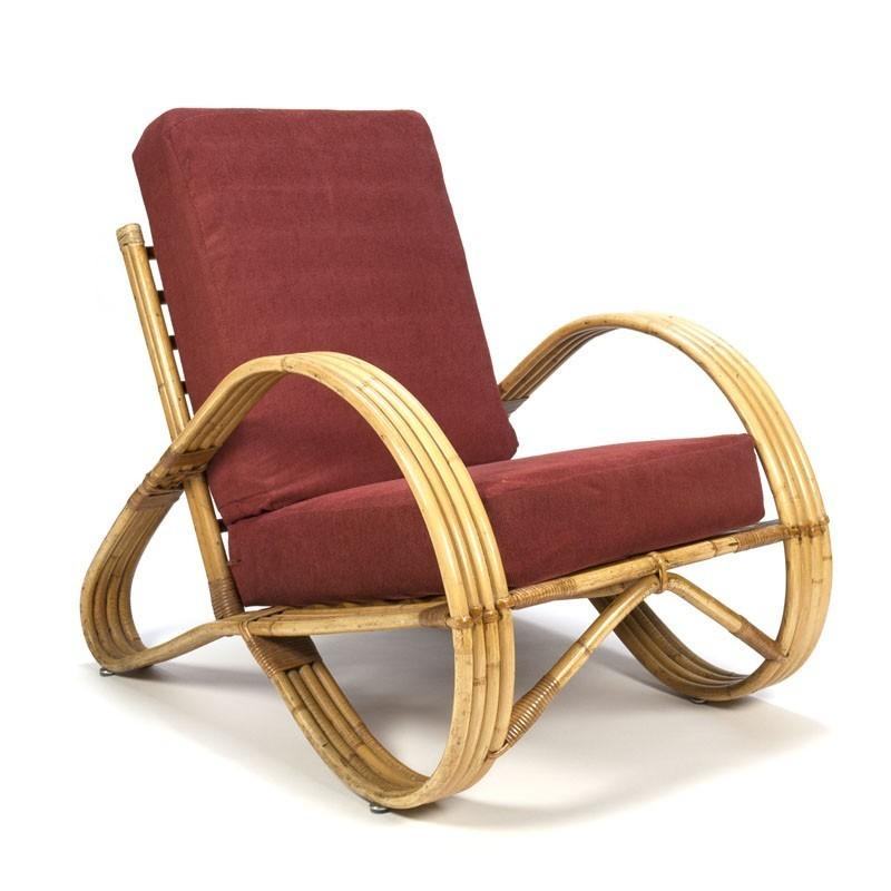 Vintage rotan fauteuil van Rohé Noordwolde
