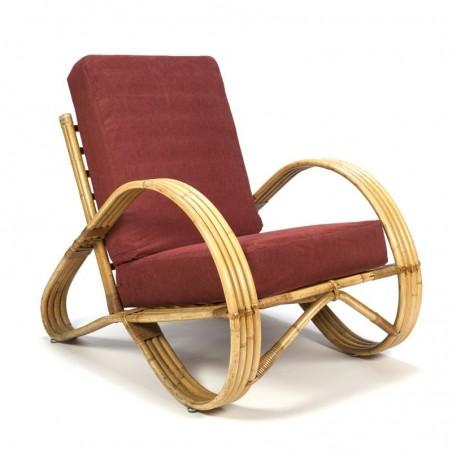 Vintage rattan easy chair Rohé Noordwolde