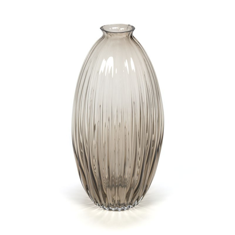 Large model glass vintage vase