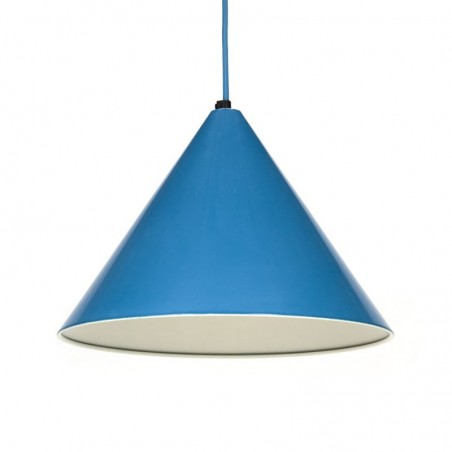 Vintage hanging lamp blue cone