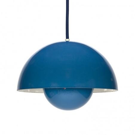 Vintage Flower Pot blue designer Verner Panton