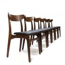 Vintage set van 6 stoelen van Schiønning en Elgaard