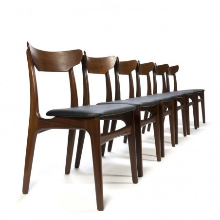 Vintage set of 6 chairs by Schiønning and Elgaard