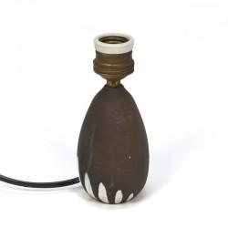 Deens vintage aardewerken lampenvoetje