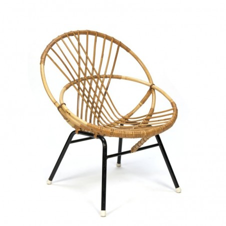 Small model vintage rattan chair