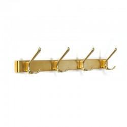 Vintage brass colored coat rack