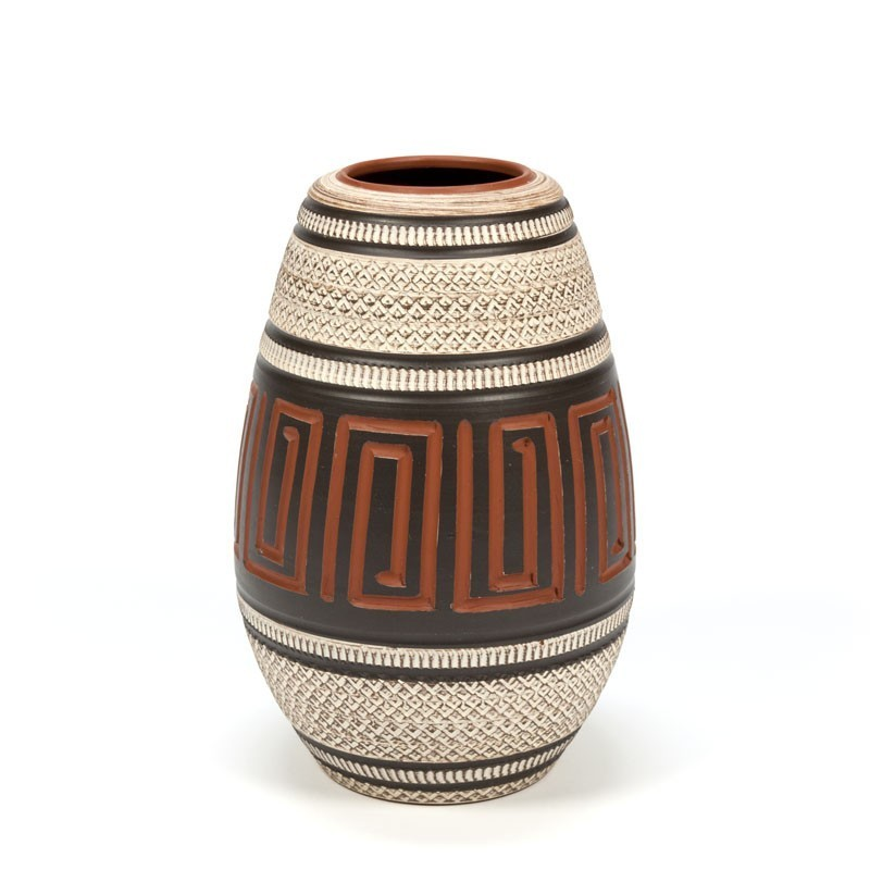 Vintage pottery handcrafted vase