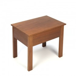 Danish teak small storage table vintage