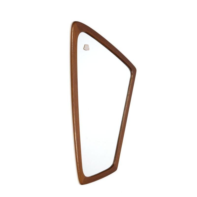 Vintage Deense organisch gevormde spiegel