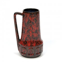 Vintage West Germany vase red/ black