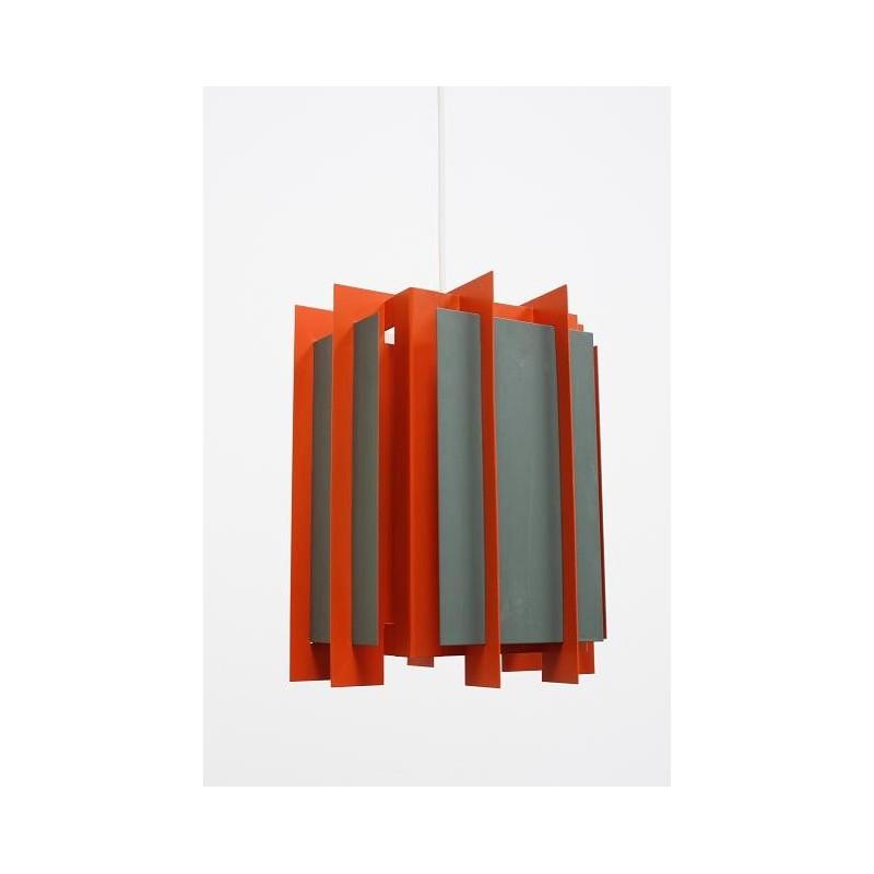 Lyfa orange/ grey metal hanging lamp