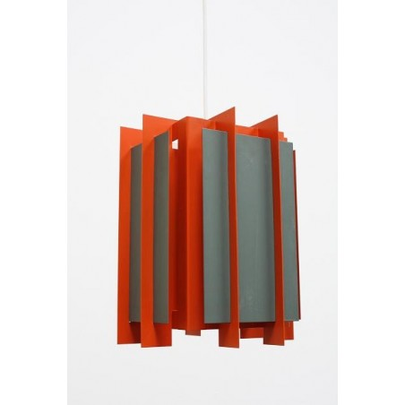Lyfa orange/ grey metal hanging lamp