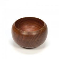Vintage convex shaped bowl of wood