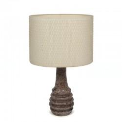 Vintage aardewerk design tafellamp
