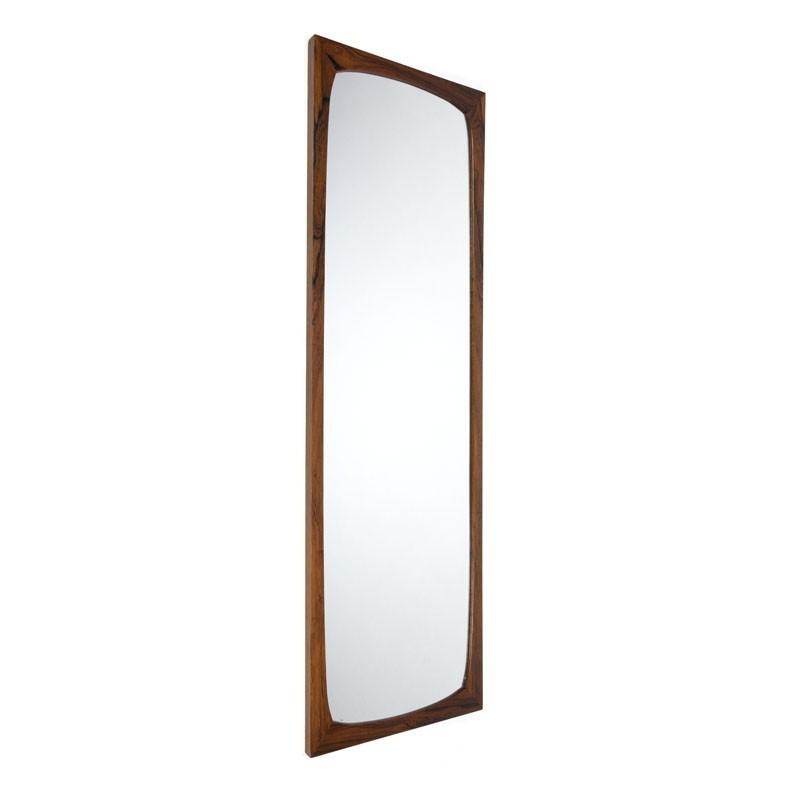 Deense grote luxe palissander vintage spiegel