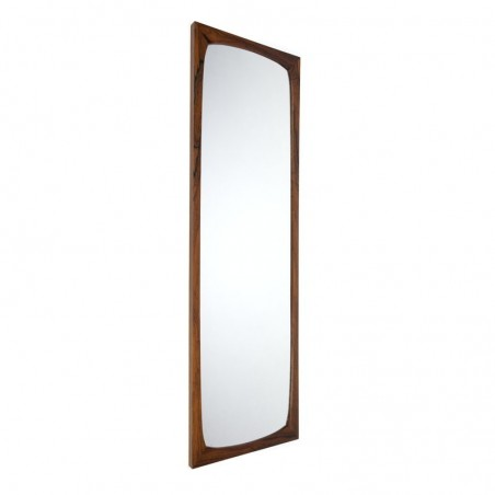 Danish large luxury rosewood vintage mirror