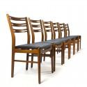 Deense vintage set van 6 teakhouten Farstrup stoelen