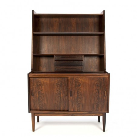 Luxe Deense vintage palissander houten boekenkast