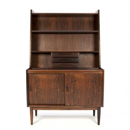 Luxury Danish vintage rosewood bookcase