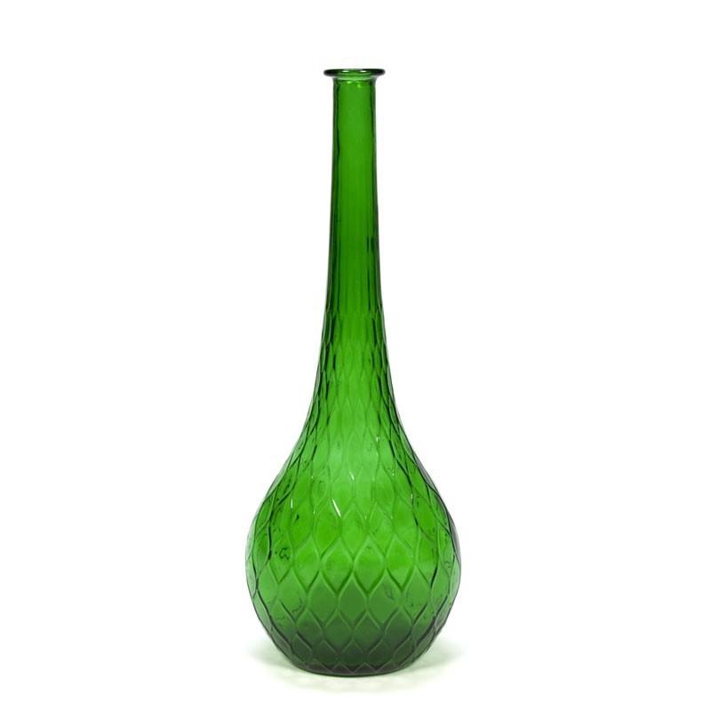 Vintage decorative big green bottle