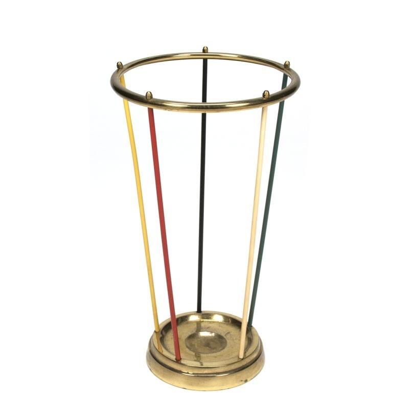 Vintage umbrella stand brass