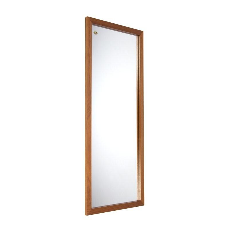 Groot model Deense vintage spiegel in teak
