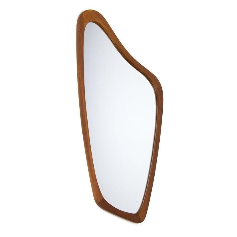 Danish organic shaped vintage mirror