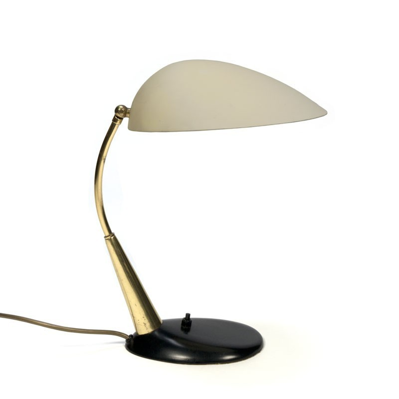 Vintage design table lamp with brass detail
