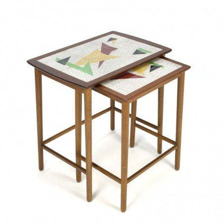 Vintage nest tables from the fifties