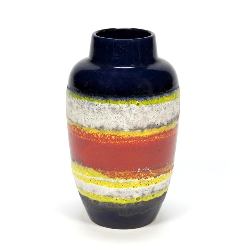 Gekleurde vintage West Germany vaas