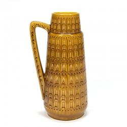 Large vintage ochre colored vase